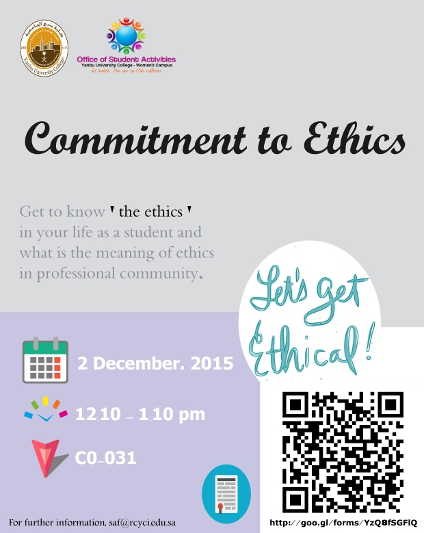 Commitment to ethics