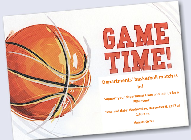 basketball invitation YUCW
