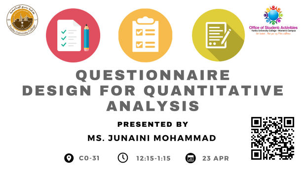 23.4.2018_StudentActivities _Questionnaire Design for Quantitative Analysis