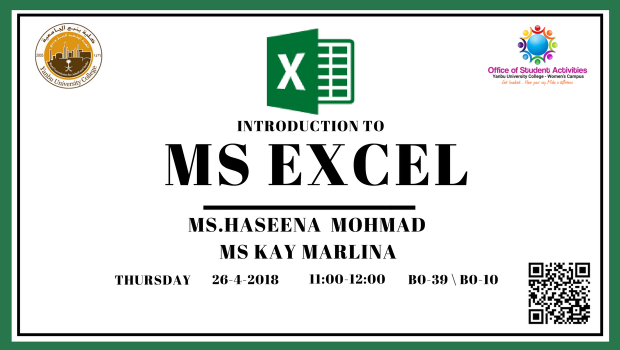 26.4.2018_StudentActivities_Introduction to MS Excel